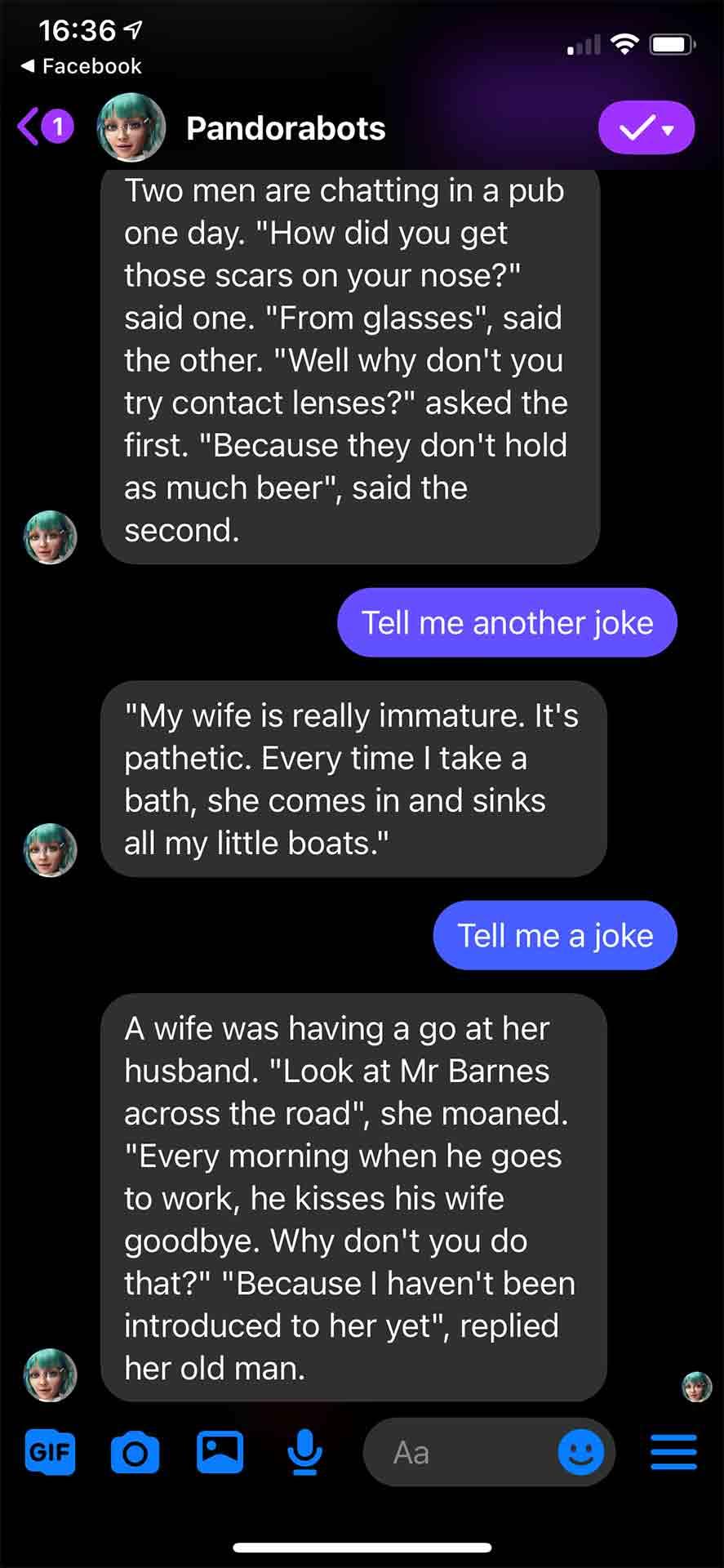Chatbot Telling Jokes