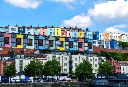 Colourful Houses In Hotwells, Bristol - Web Design Specialists