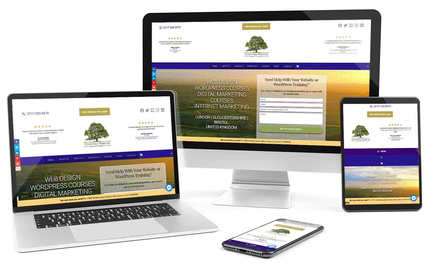 Responsive Web Design By Cotswold Websites
