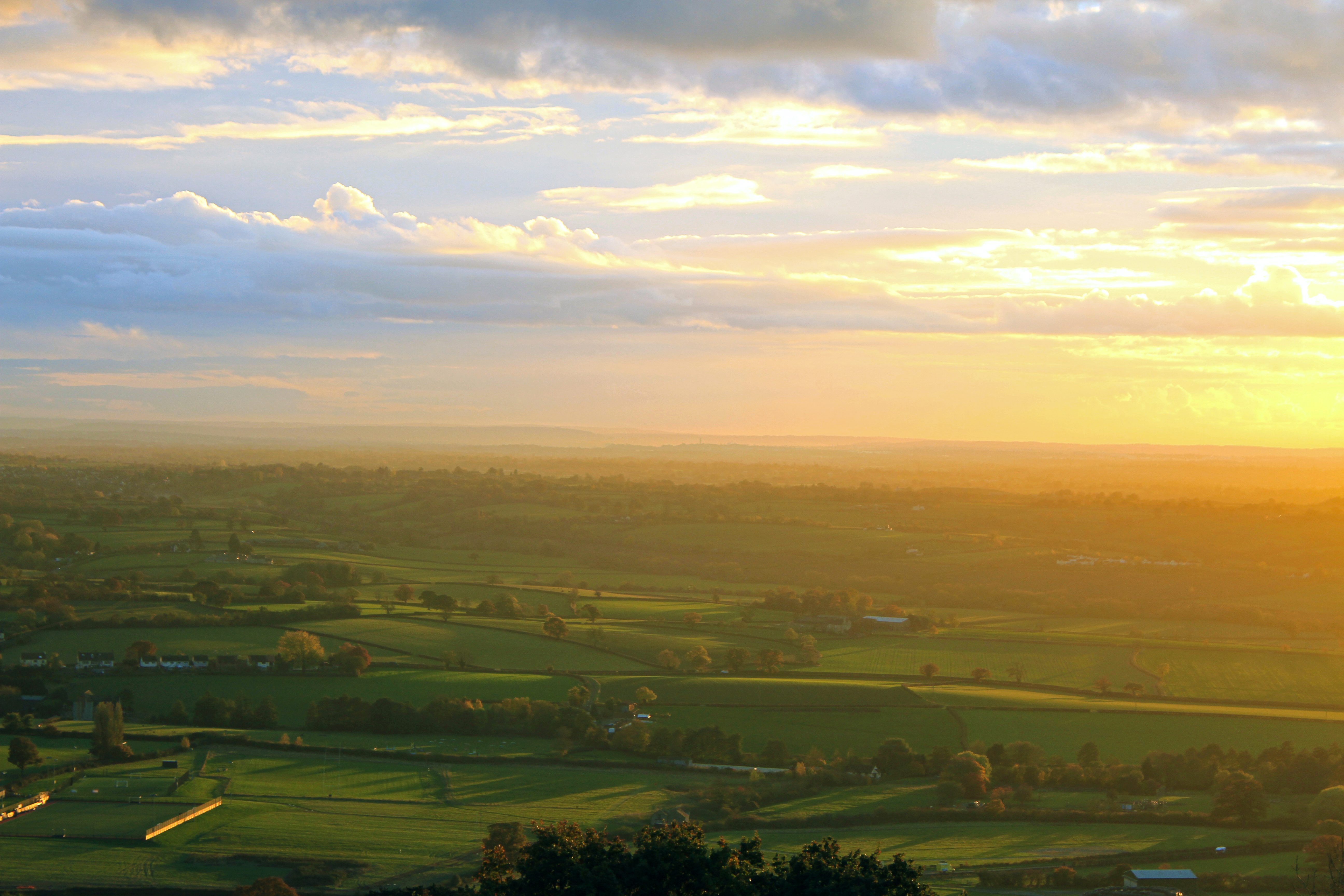 Sunset Over the Vale of Berkeley from Wotton Hill
